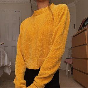 FOREVER 21 mustard yellow sweater NWOT
